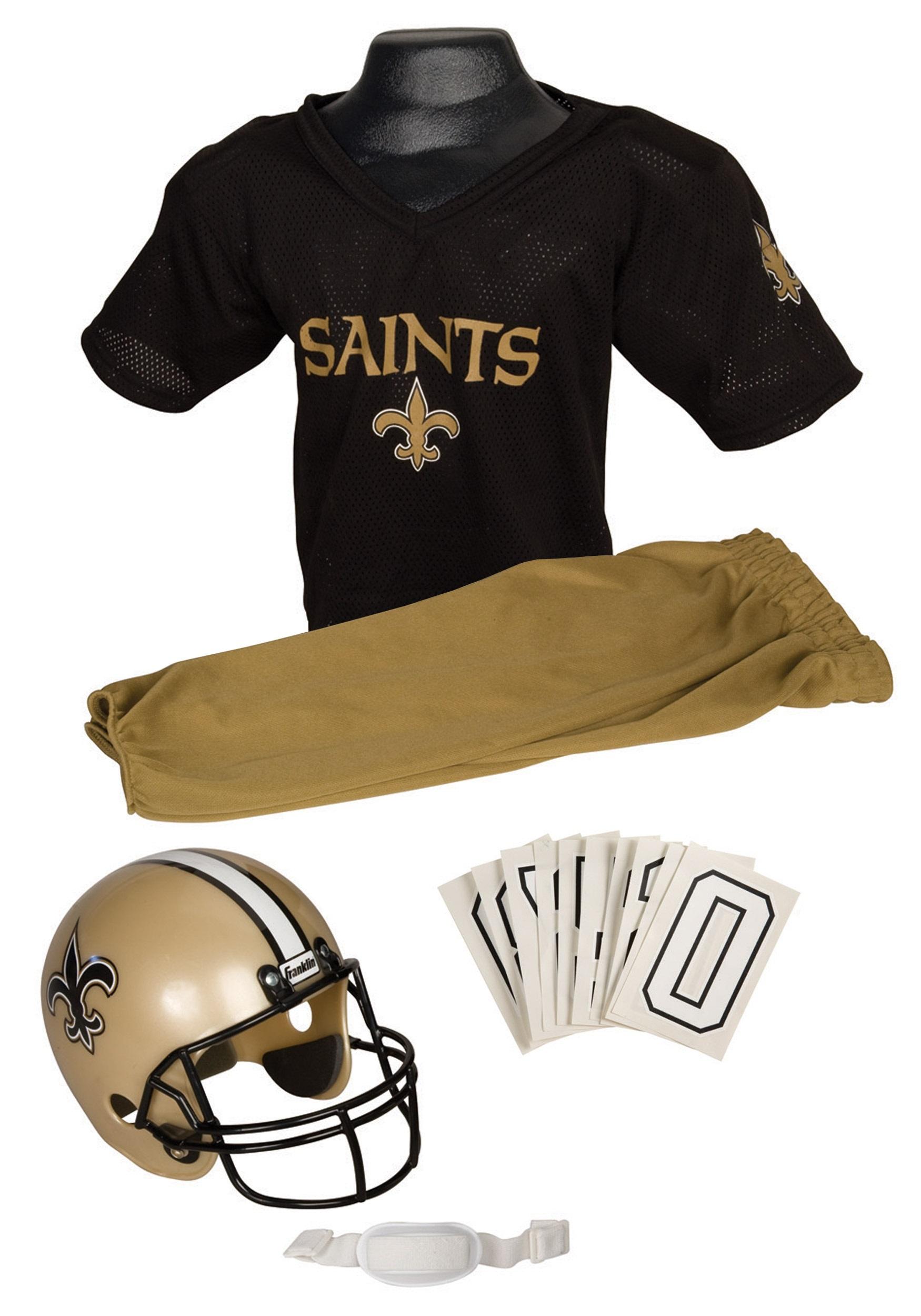 Kids Saints NFL Uniform Set