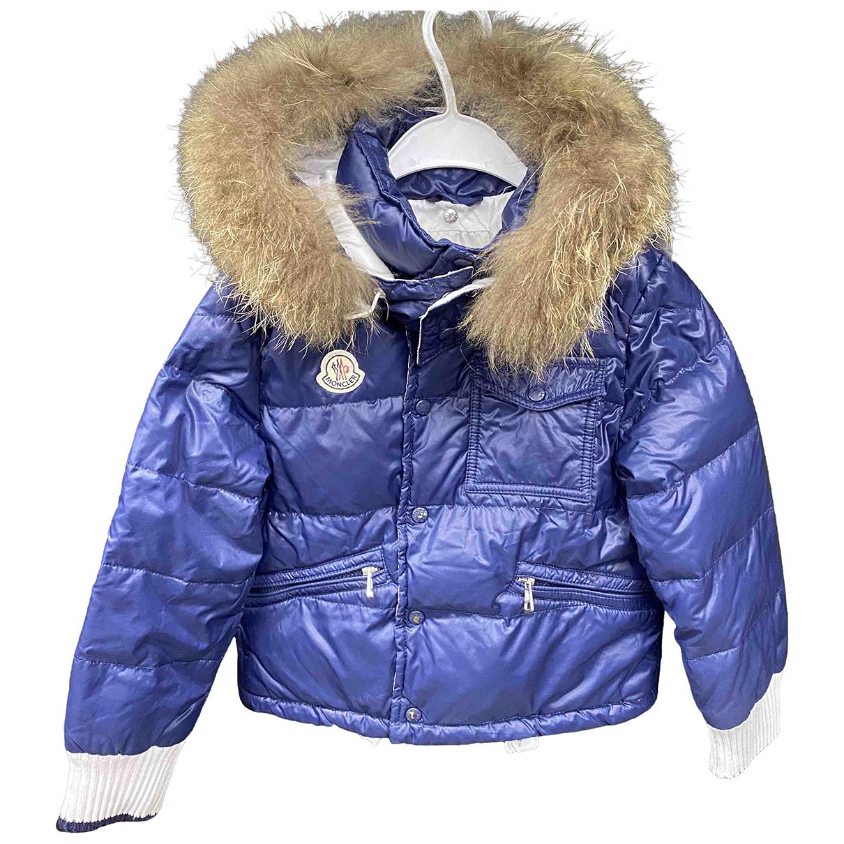 Moncler Fur Hood Blue Fox jacket & coat for Kids 5 years - up to 108cm FR