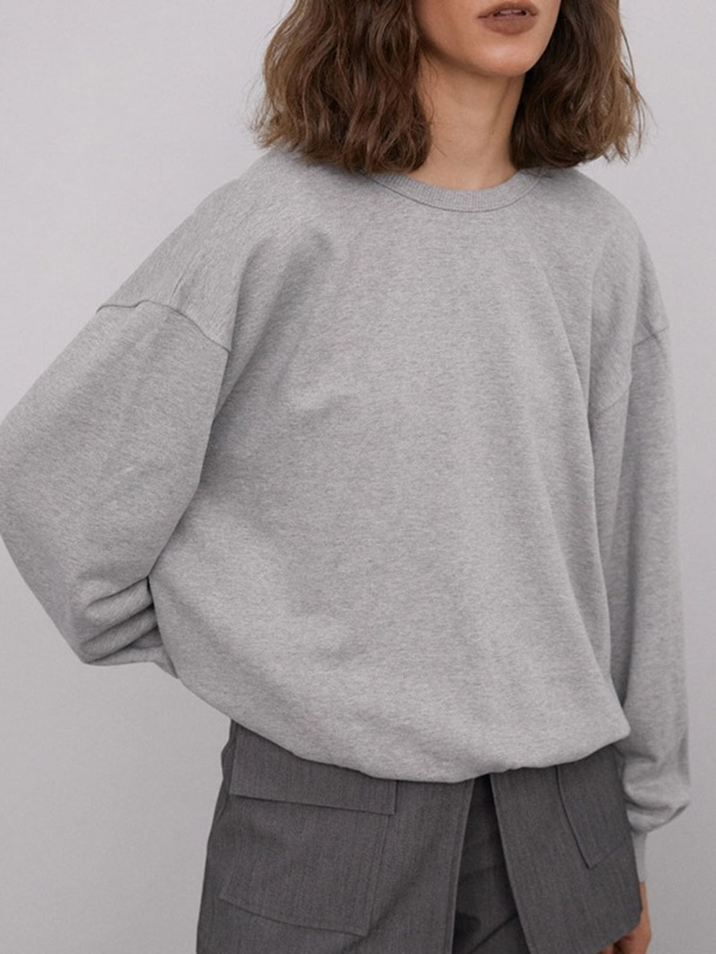 Ericdress Round Neck Plain Long Sleeve Western Loose T-Shirt