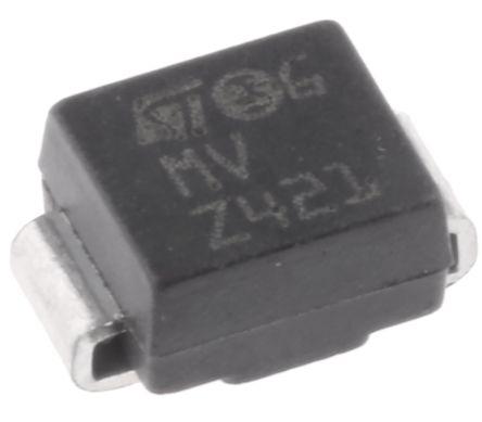STMicroelectronics SM6T36CA, Bi-Directional TVS Diode, 600W, 2-Pin DO-214AA (10)