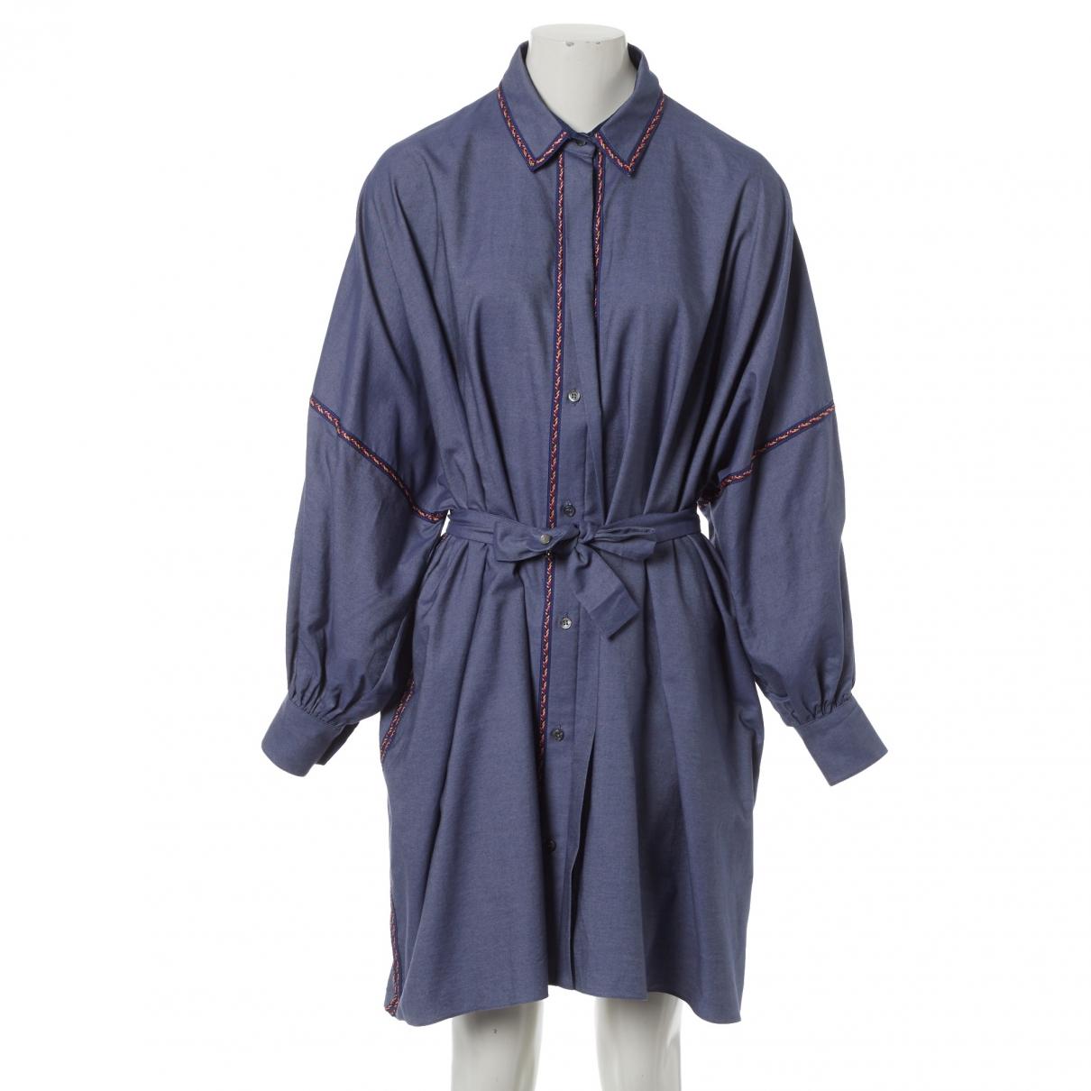 Alexis Mabille \N Kleid in  Blau Baumwolle