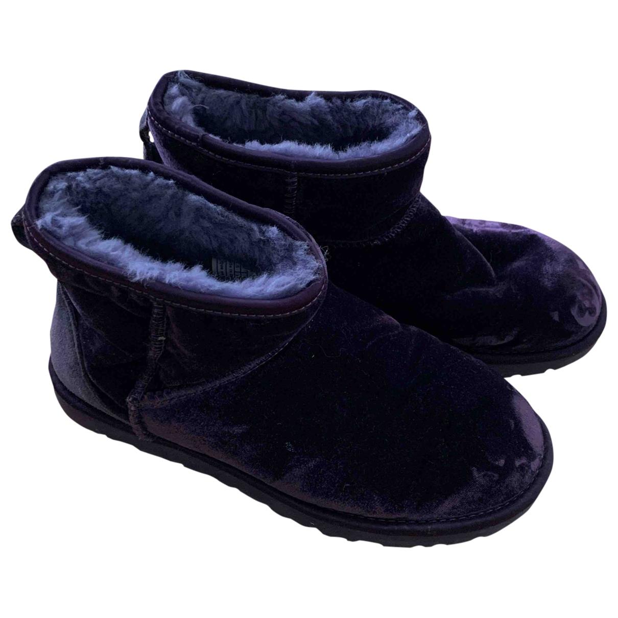 Ugg - Bottes   pour femme en velours - violet