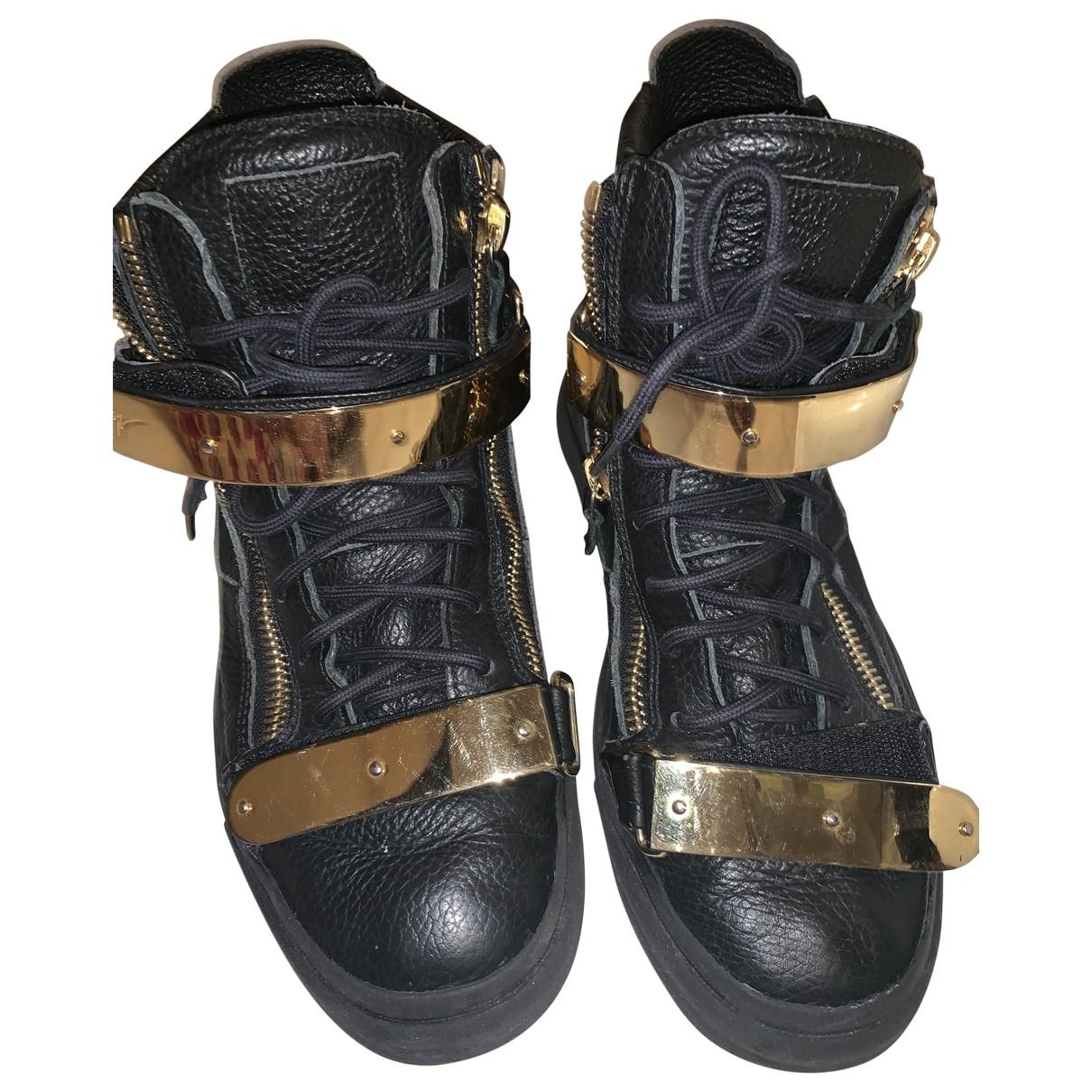 Giuseppe Zanotti \N Black Leather Boots for Men 41 EU