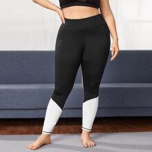 Leggings y pantalones deportivos de talla grande Monocolor