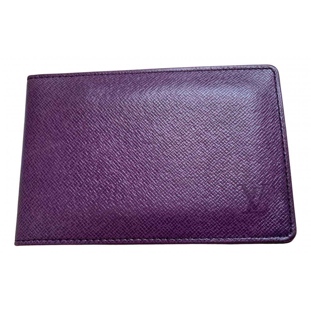 Louis Vuitton - Portefeuille   pour femme en cuir - violet