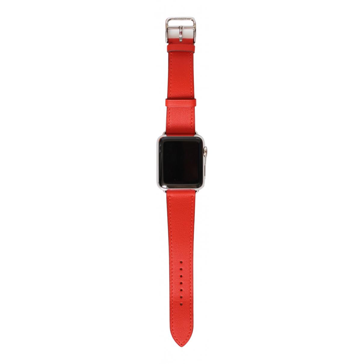 Hermes - Montre Apple Watch x Hermes 38mm pour femme en ceramique - rose