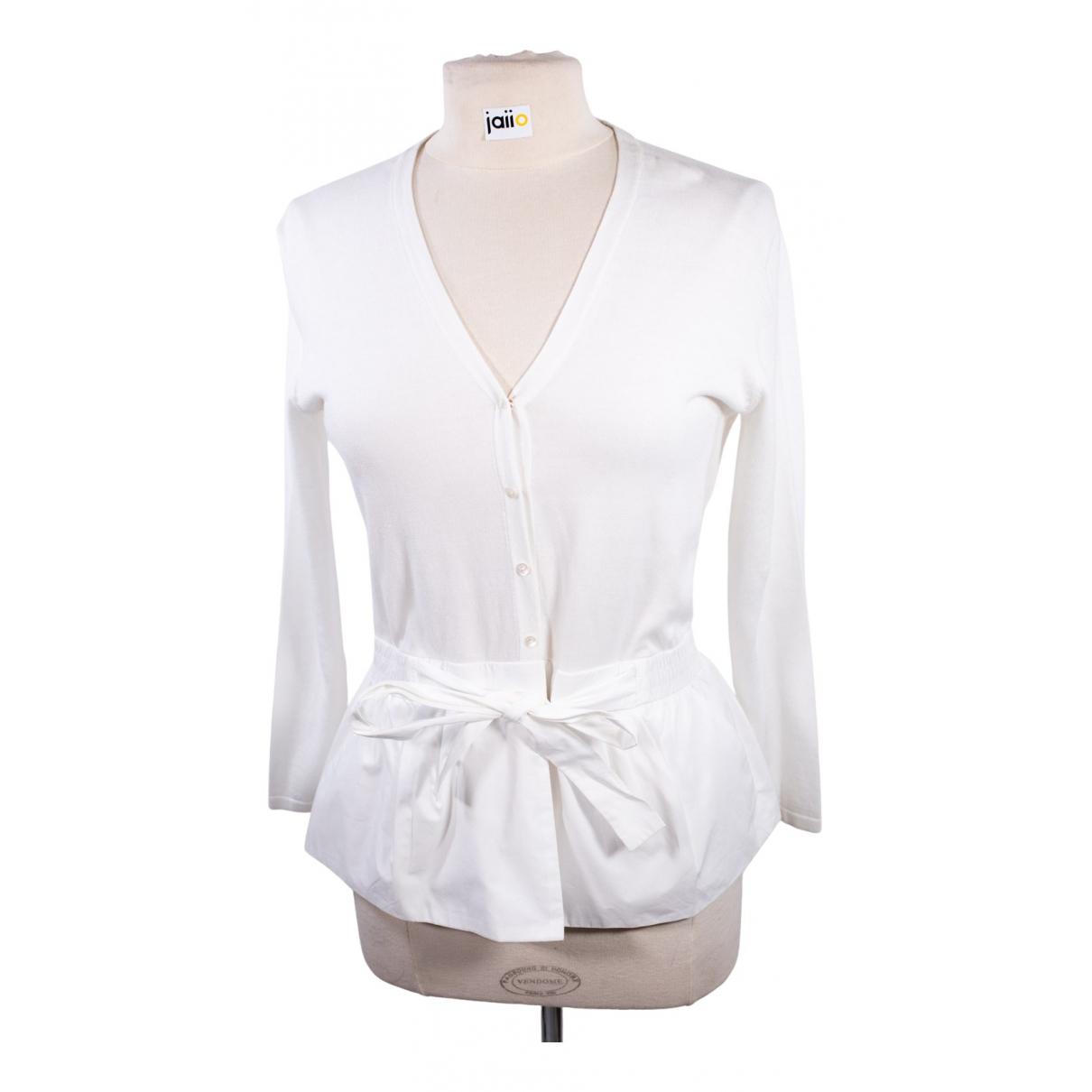 Paule Ka N White Cotton Knitwear for Women 38 FR