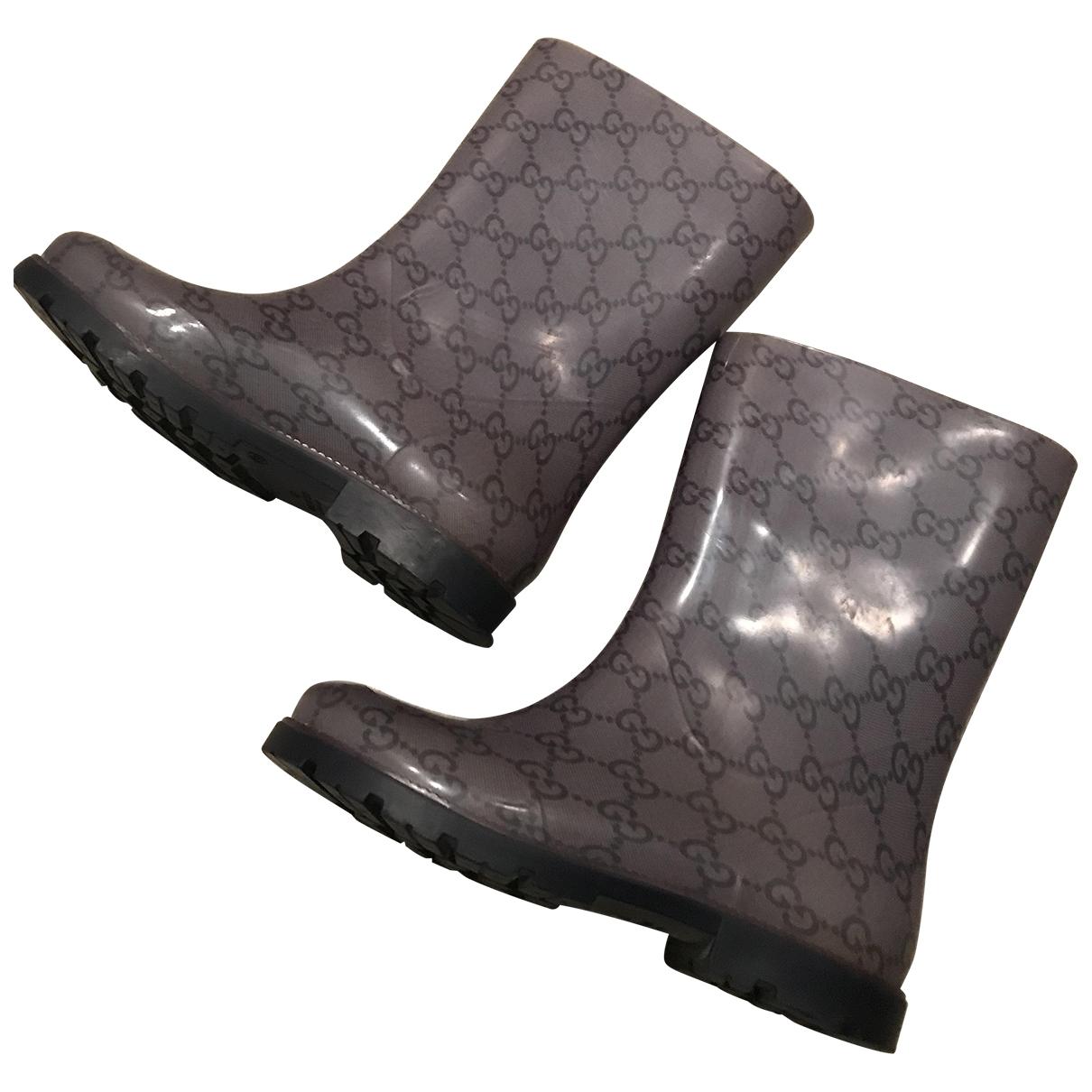 Gucci - Bottes.Bottines   pour enfant - gris