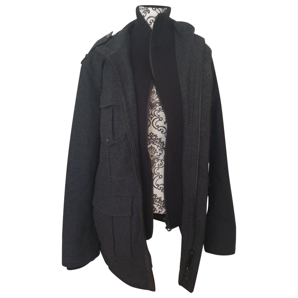 Esprit - Manteau   pour homme en laine - gris