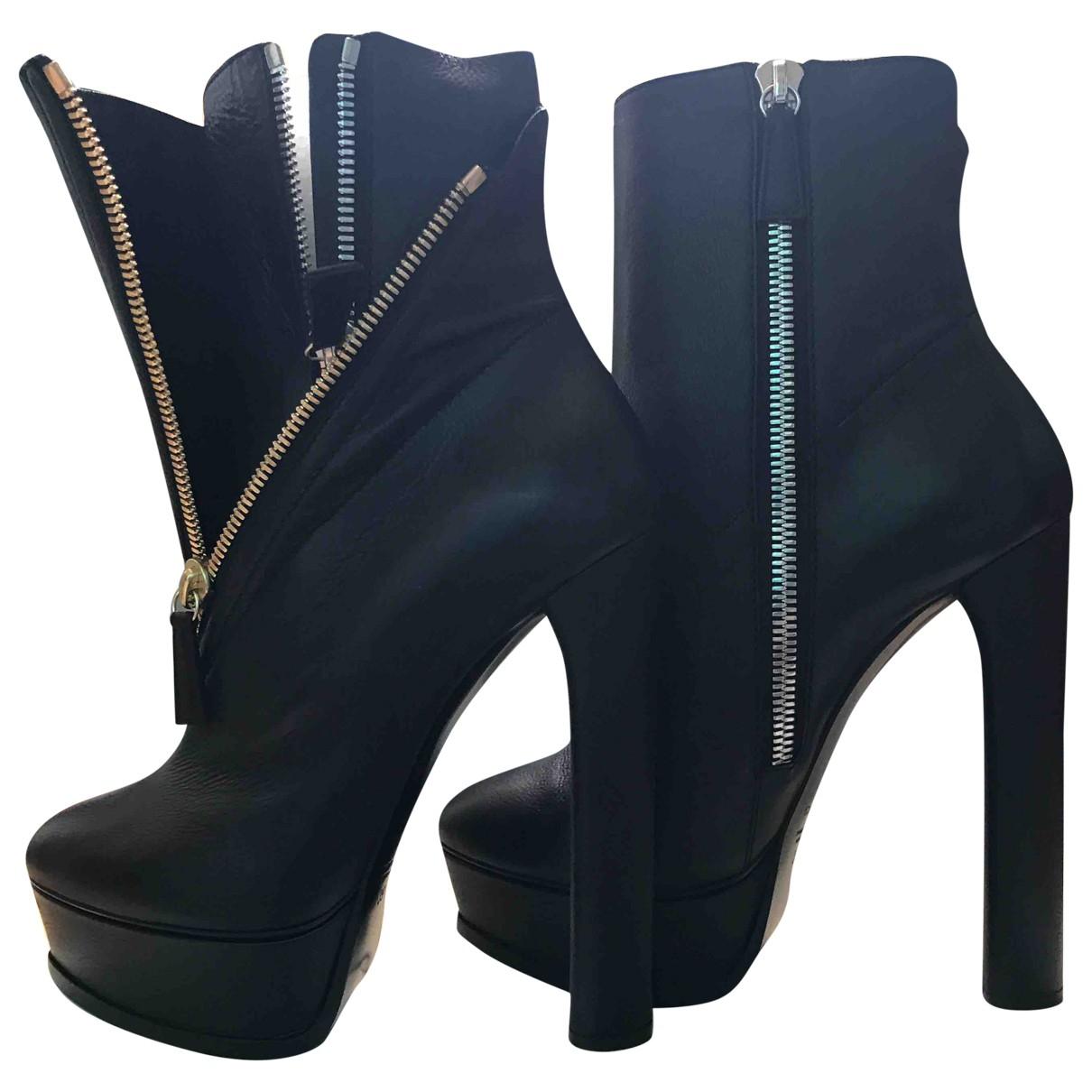 Casadei \N Stiefel in  Schwarz Leder