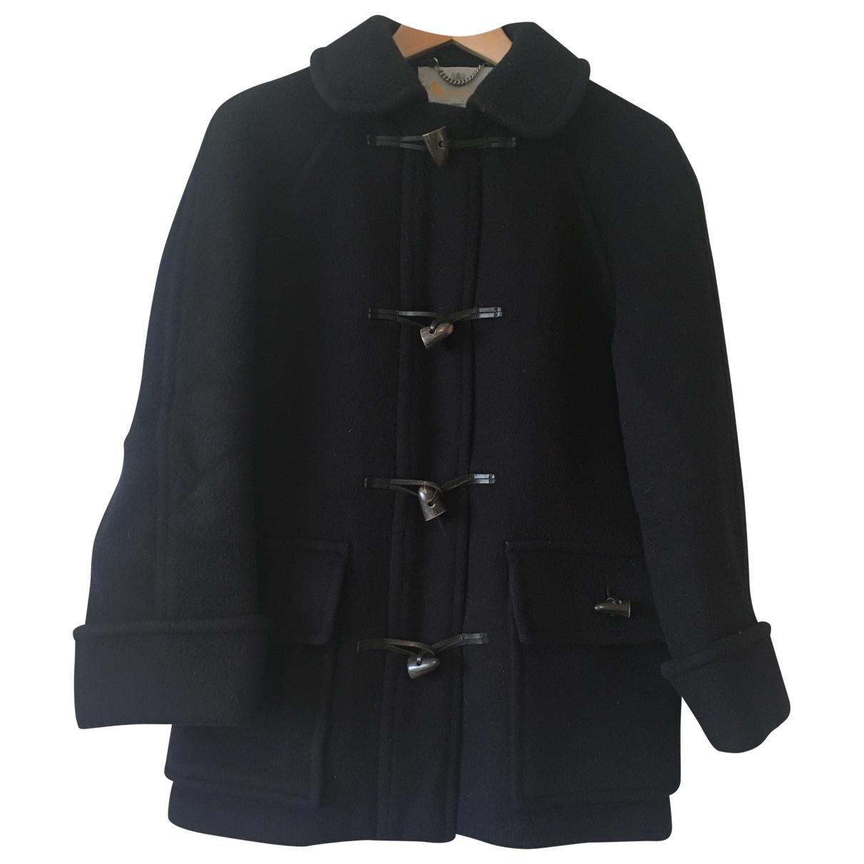 Aquascutum - Manteau   pour femme en laine - marine