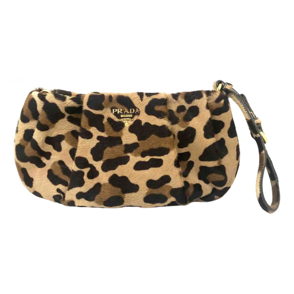 Prada \N Multicolour Pony-style calfskin Clutch bag for Women \N