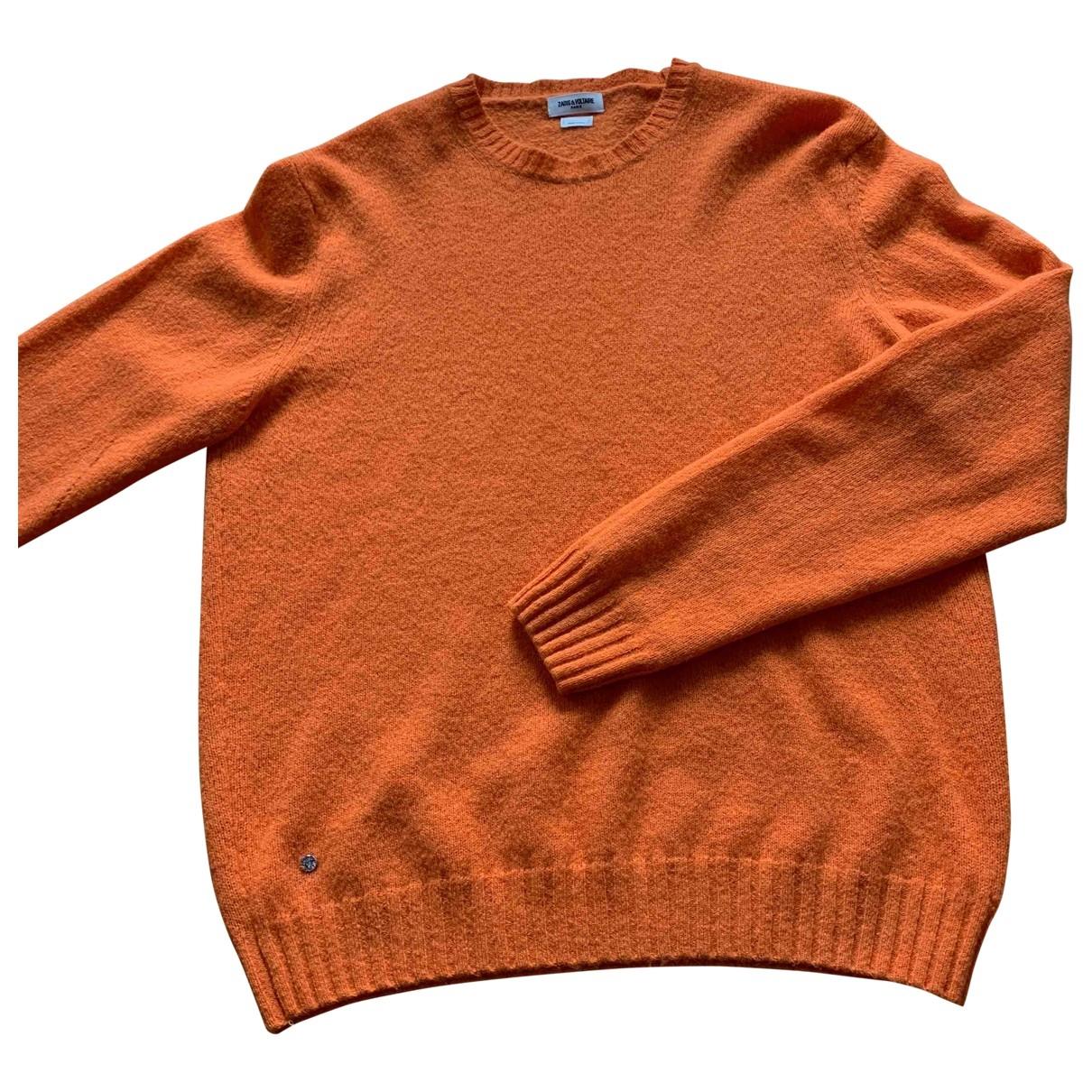 Zadig & Voltaire \N Pullover.Westen.Sweatshirts  in  Orange Wolle