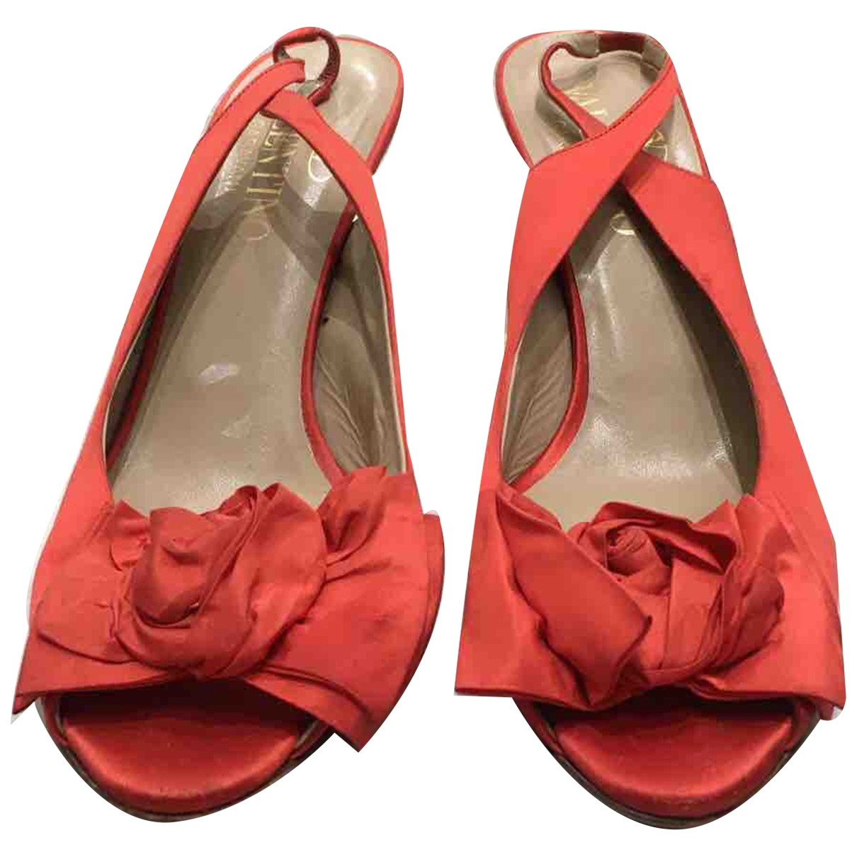 Valentino Garavani \N Red Suede Sandals for Women 40 EU