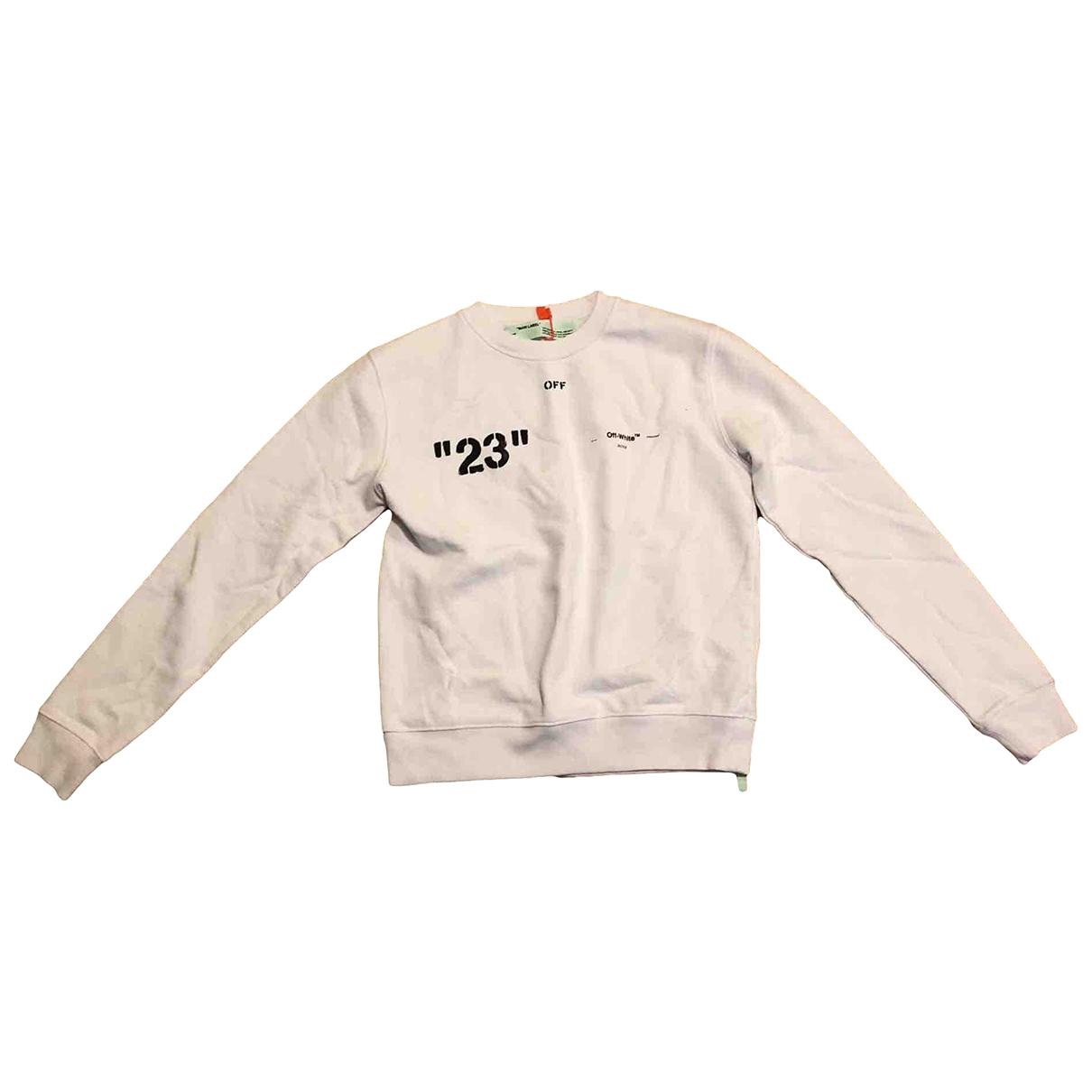 Off-white \N Pullover.Westen.Sweatshirts  in  Weiss Baumwolle