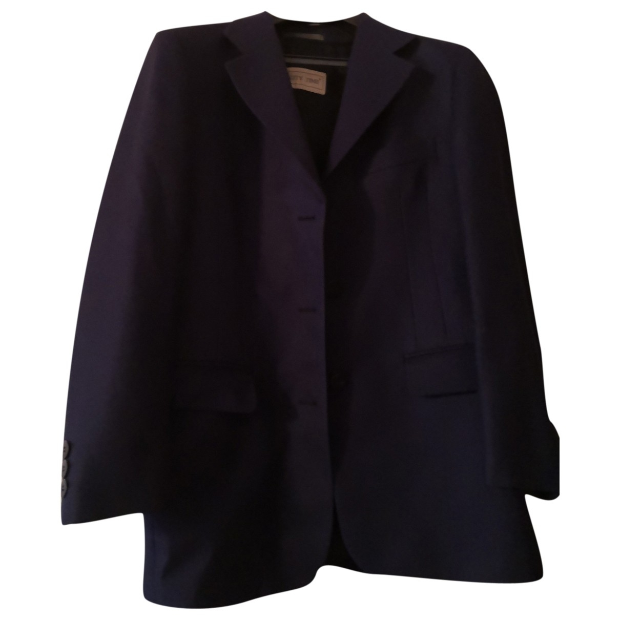Non Signé / Unsigned \N Navy Wool jacket for Women 40 IT