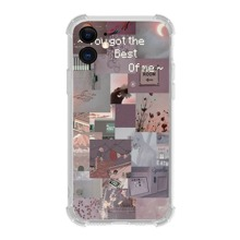 Aesthetic Collage Pattern iPhone Case