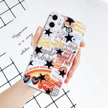 Star & Letter Graphic iPhone Case