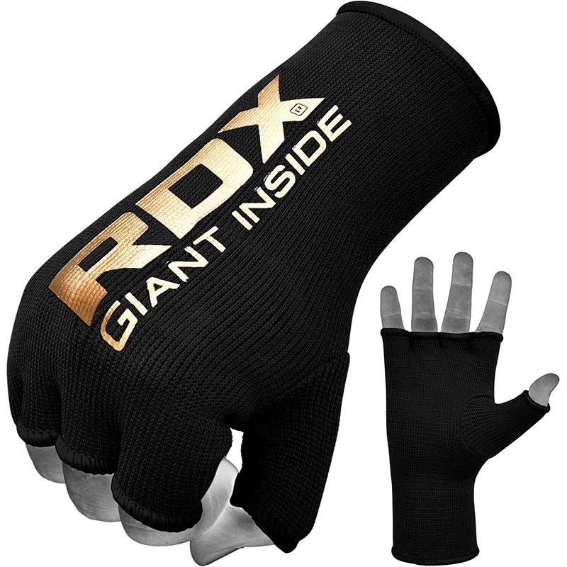 RDX IB Guantes Internos Calceteria Negro Extra Grande