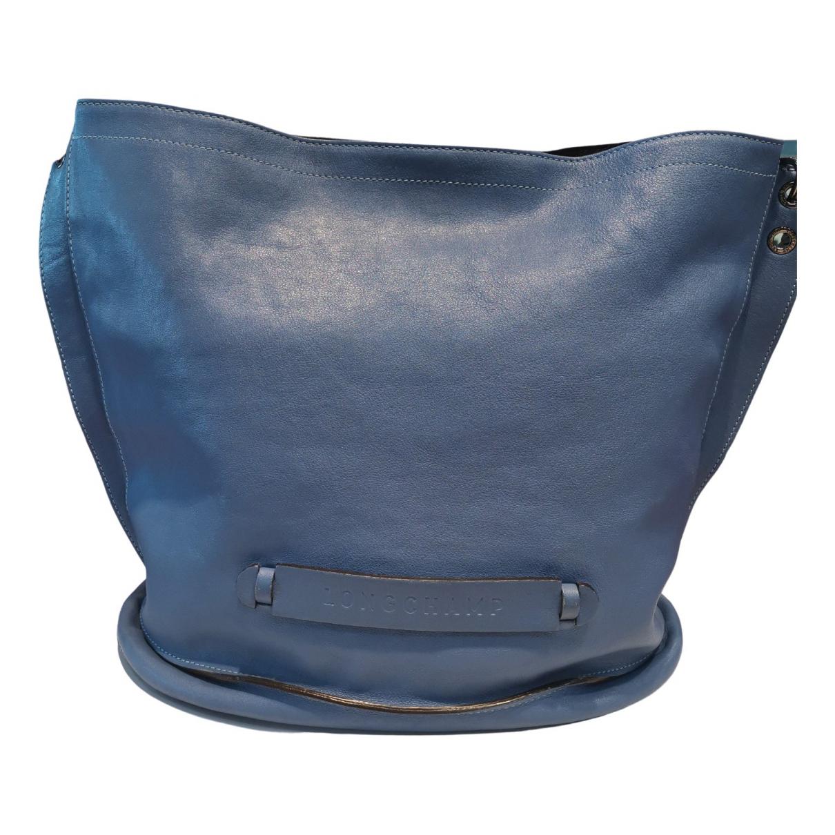 Longchamp 3D Handtasche in  Blau Leder