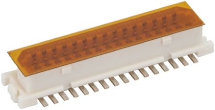 Hirose , DF9 1mm Pitch 31 Way 2 Row Straight PCB Socket, Surface Mount, Solder Termination (5)