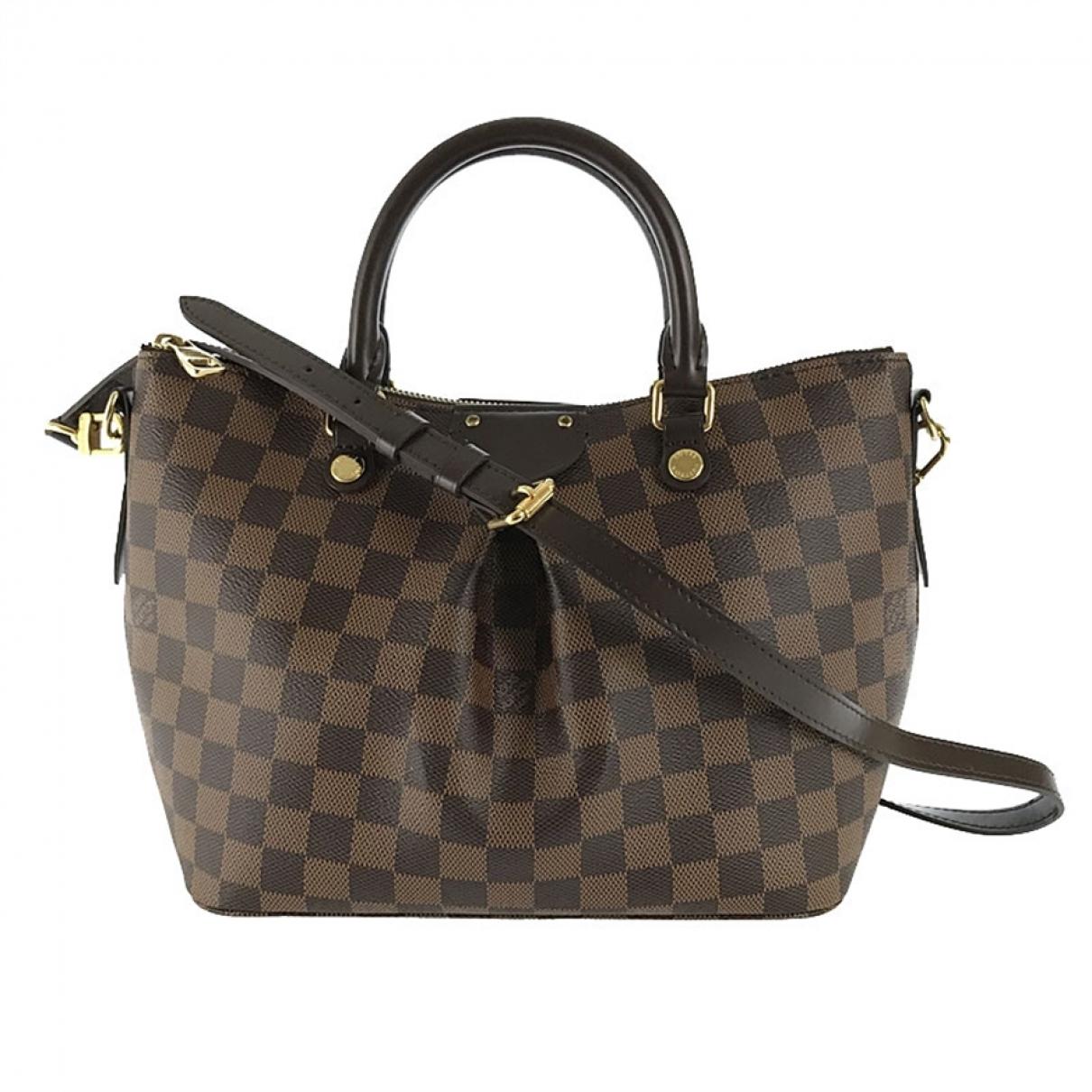 Louis Vuitton - Sac a main Siena pour femme en toile - marron