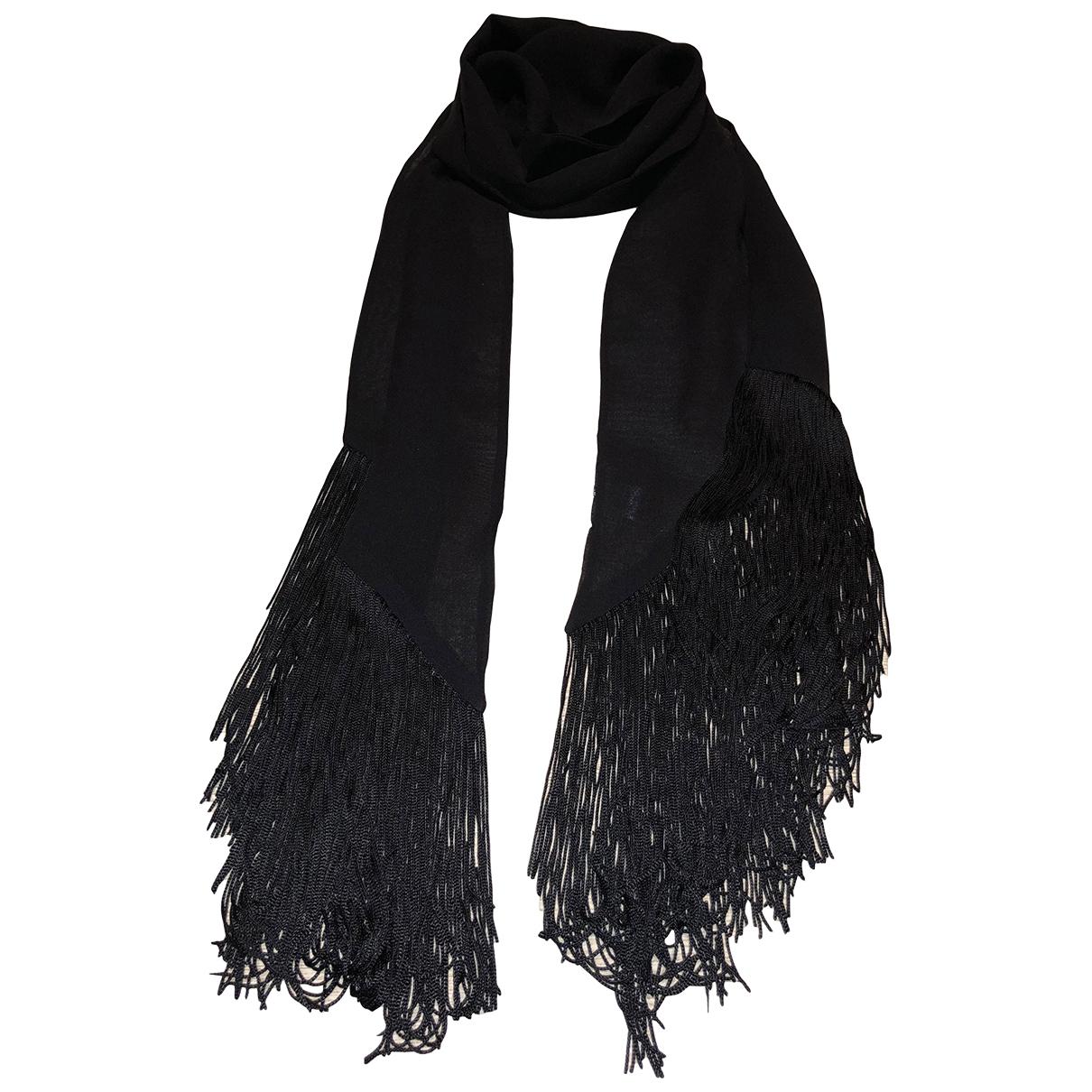Wolford - Foulard   pour femme en soie - noir