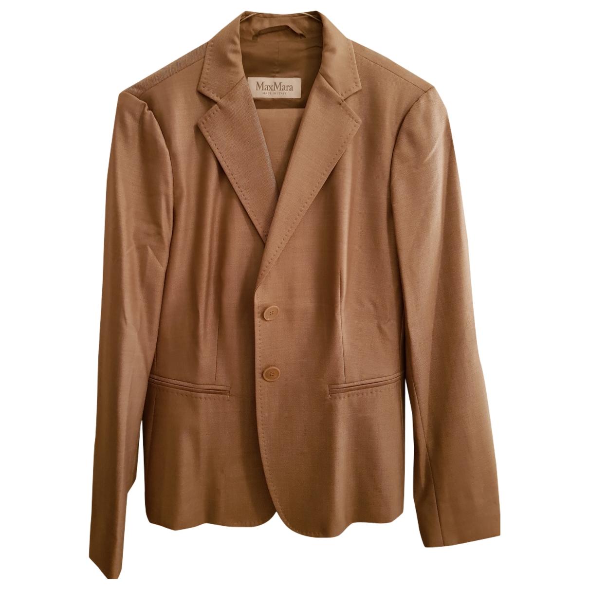 Max Mara - Robe   pour femme en laine - beige