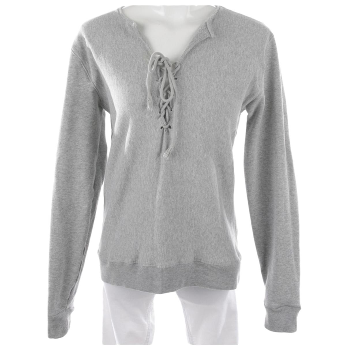 Saint Laurent N Grey Cotton Knitwear for Women XS International