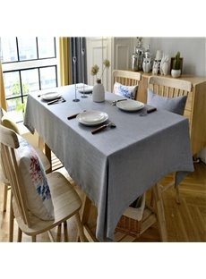 Simple and Fashion Solid Smokey Gray Home and Restaurant Table Cover Cloth