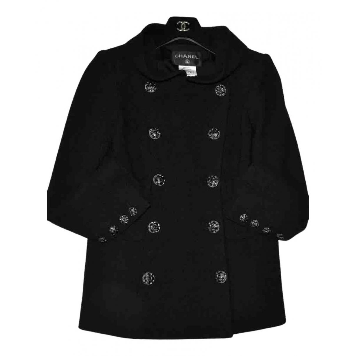 Chanel N Black Tweed coat for Women 34 FR