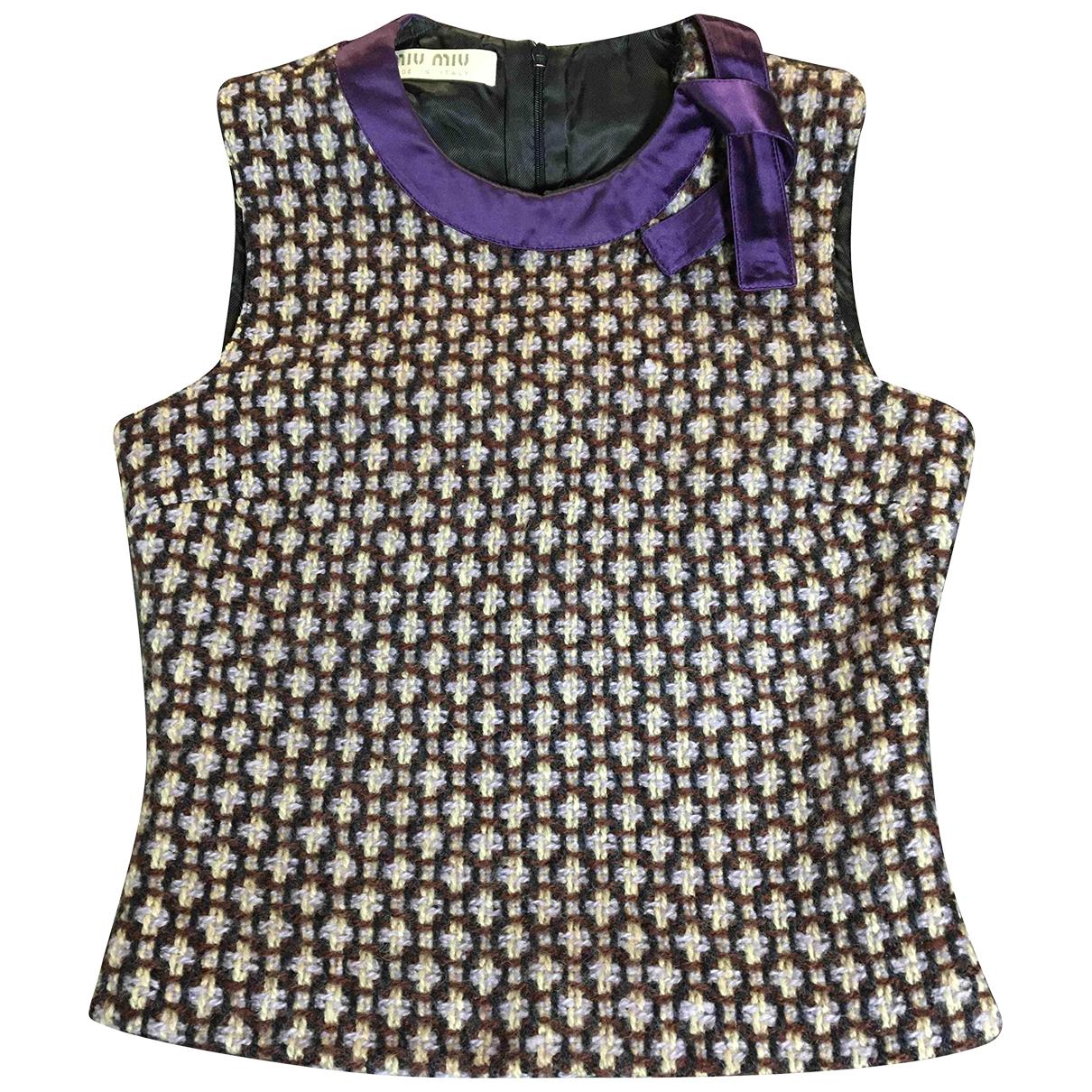 Miu Miu - Pull   pour femme en laine - violet