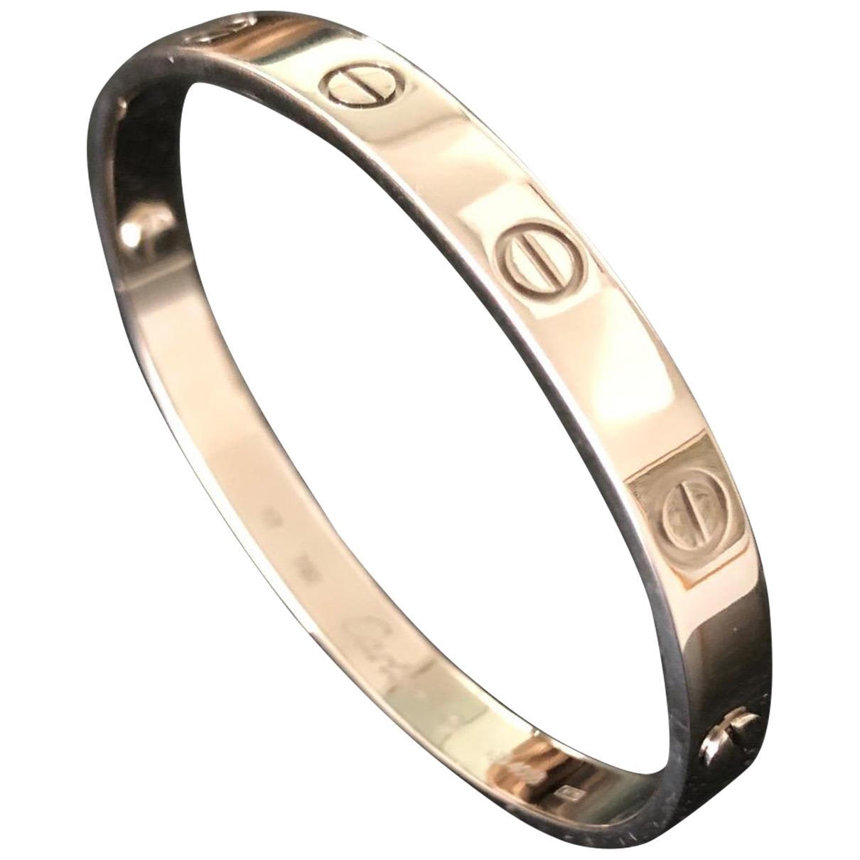 Cartier - Bracelet Love pour femme en or blanc