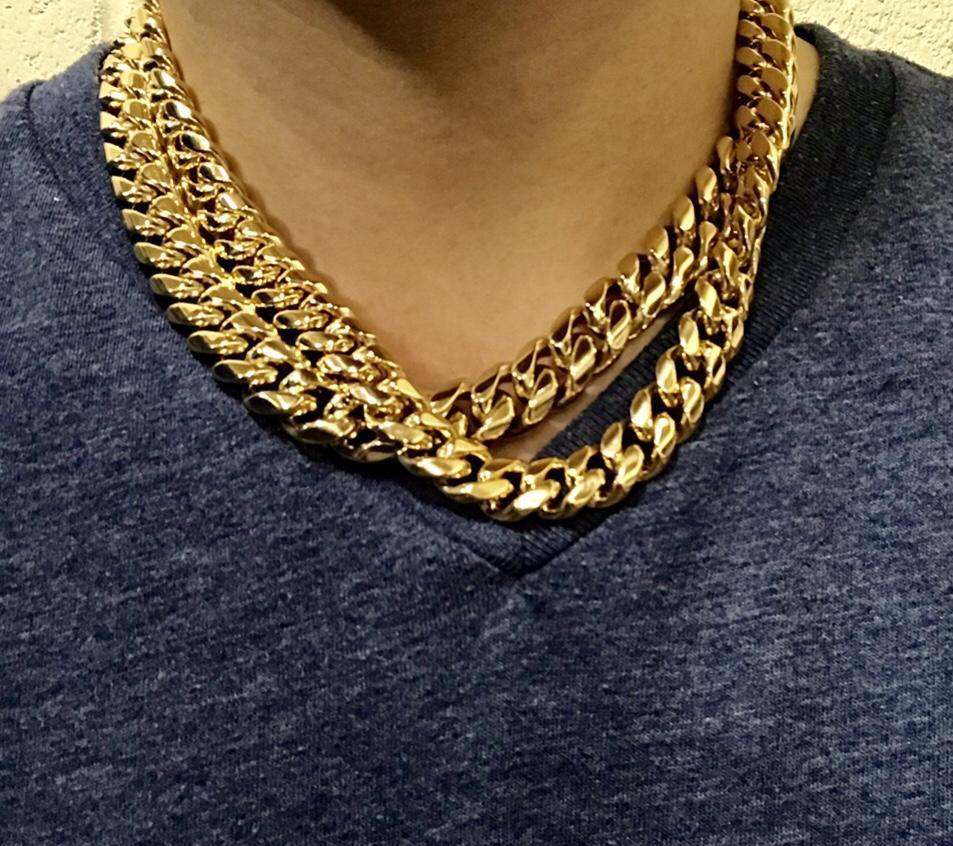 Miami Cuban Chain Yellow Gold