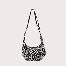 Girls Zebra Print Crossbody Bag