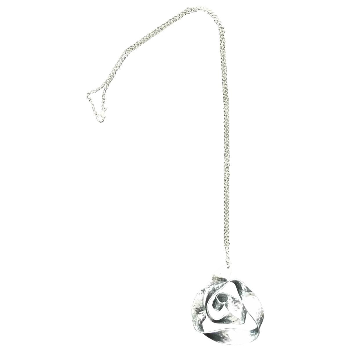 - Collier Motifs Floraux pour femme en metal - argente