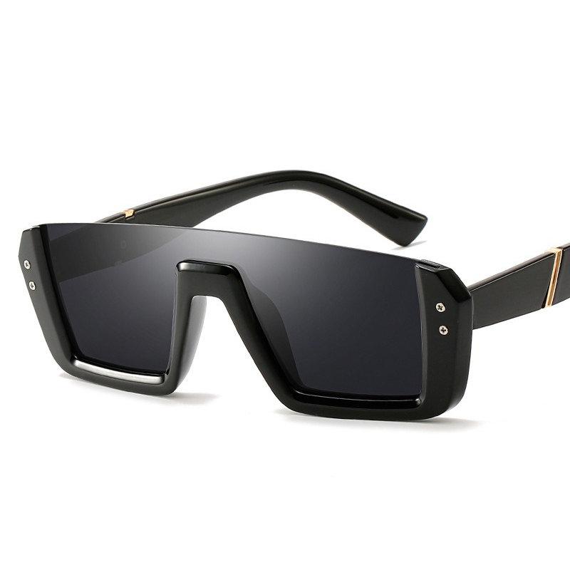 Women Retro Square Anti-UV PC Lens Sunglasses PC Half-frame Vogue Sunglasses