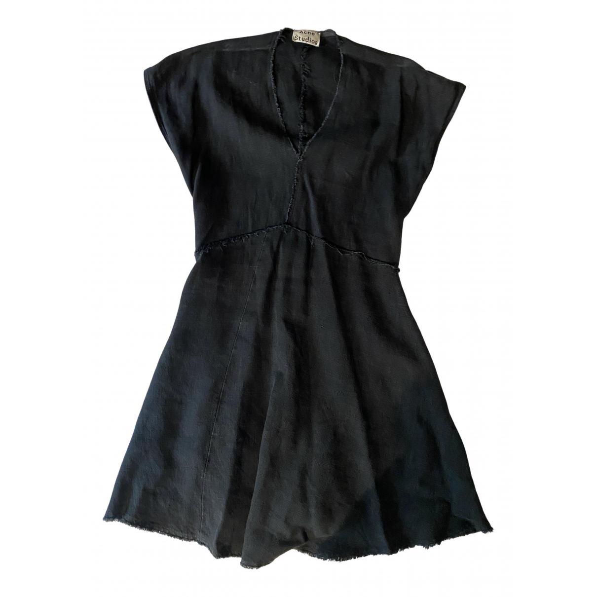 Acne Studios N Black Linen dress for Women 32 FR