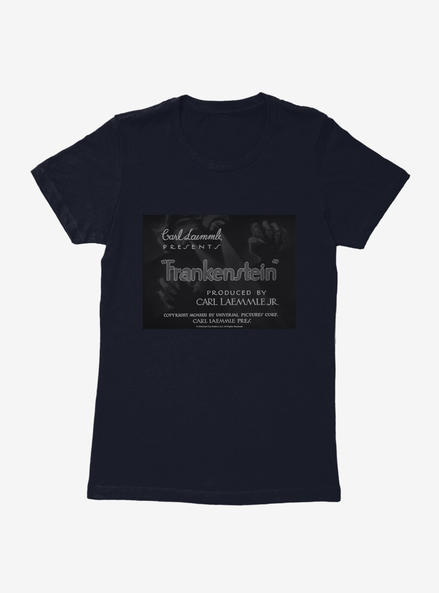 Frankenstein Title Card Womens T-Shirt