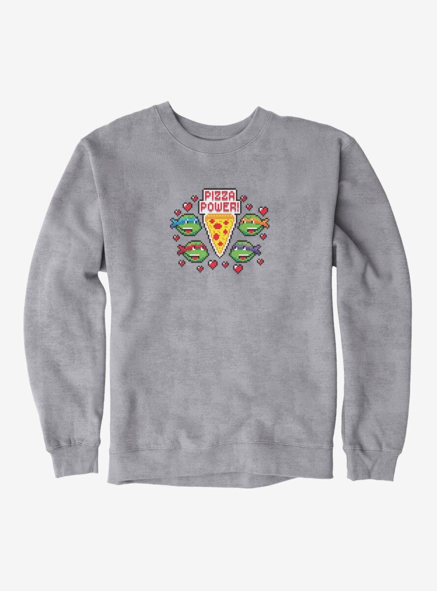 Teenage Mutant Ninja Turtles Pixelated Pizza Power Group Sweatshirt