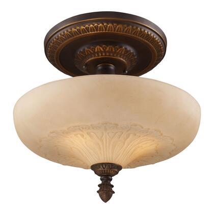 08094-AGB Restoration 3-Light Semi Flush in Golden