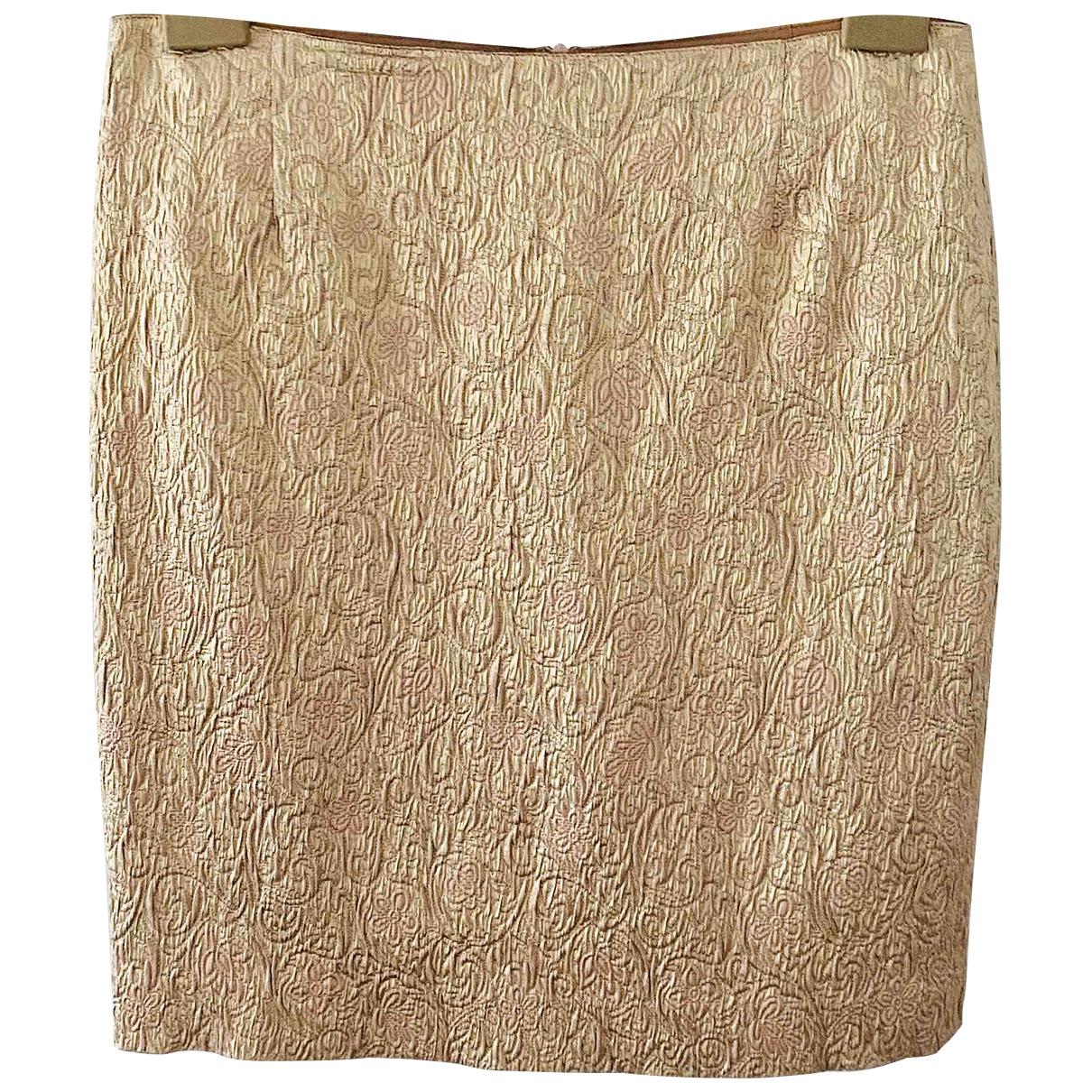 Blumarine - Jupe   pour femme en coton - elasthane - dore
