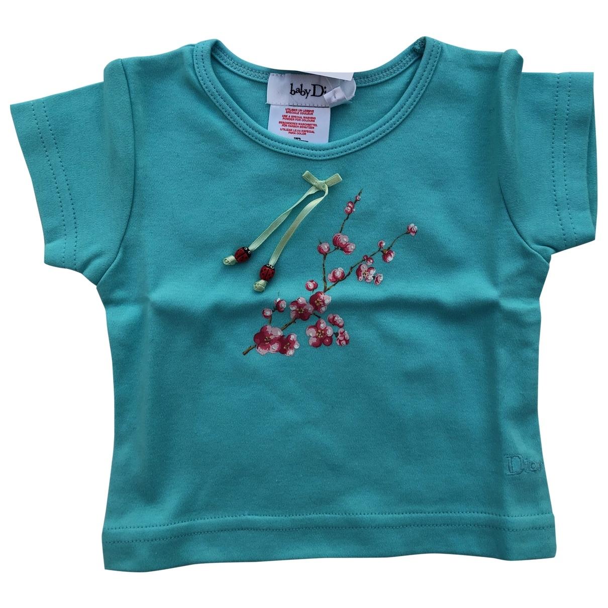 Baby Dior - Top   pour enfant en coton - turquoise