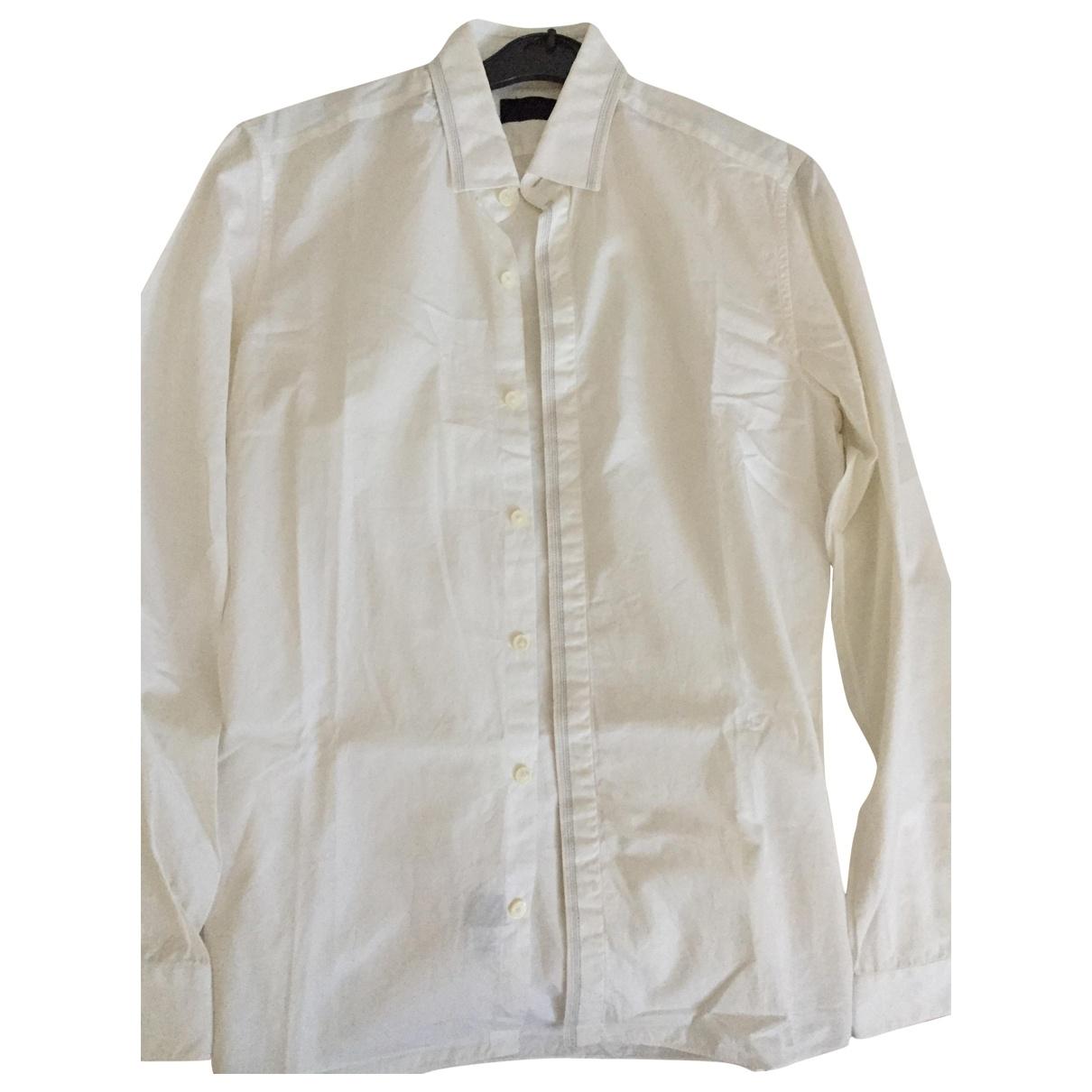 Lanvin \N Ecru Cotton Shirts for Men 38 EU (tour de cou / collar)