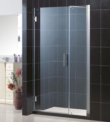 SHDR-20467210-01 Unidoor 46-47 In. W X 72 In. H Frameless Hinged Shower Door With Support Arm In
