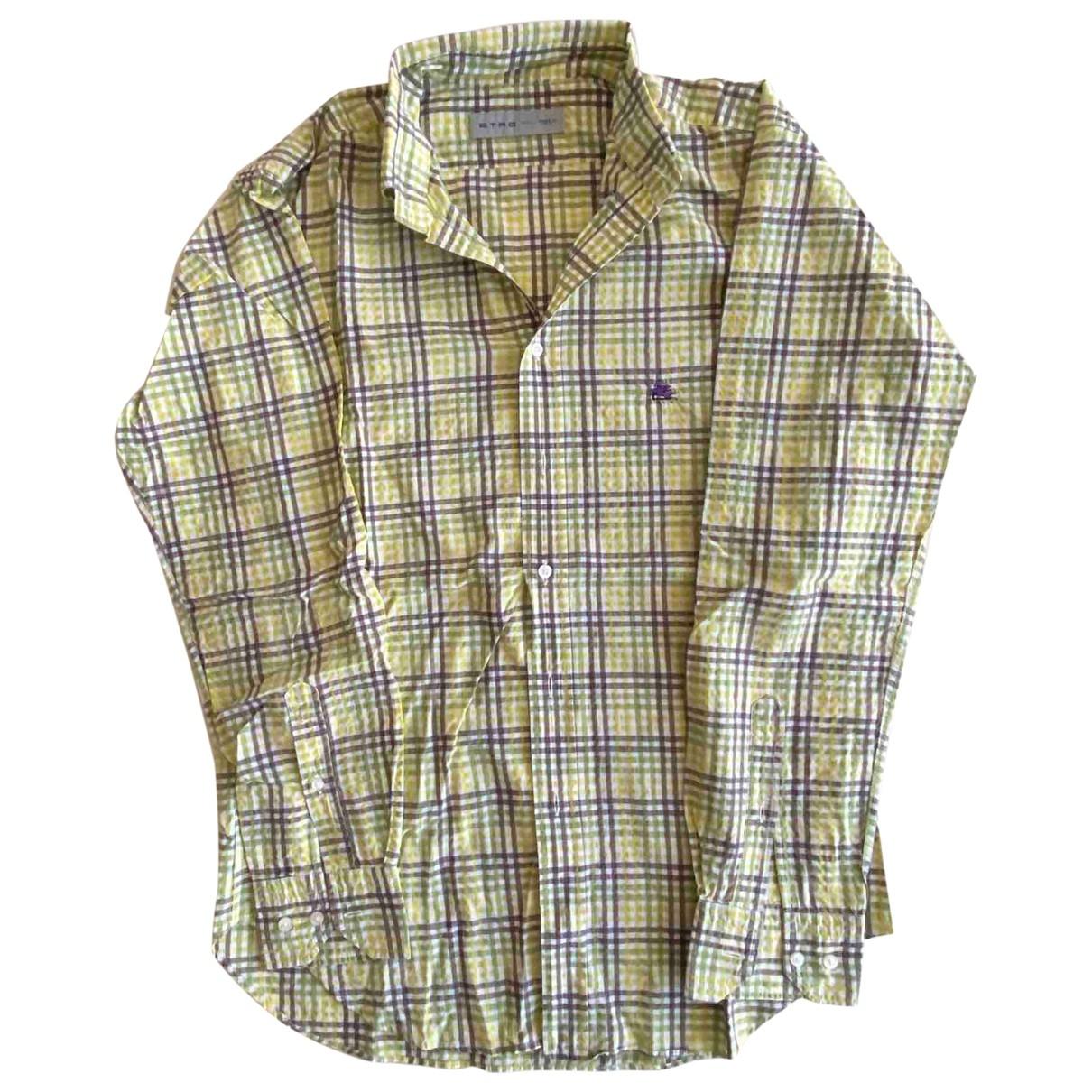 Etro \N Hemden in  Gelb Baumwolle