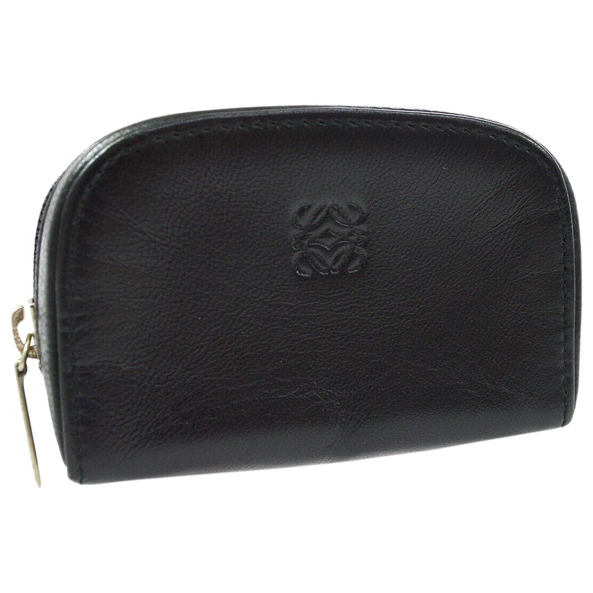 Loewe \N Black Leather Purses, wallet & cases for Women \N