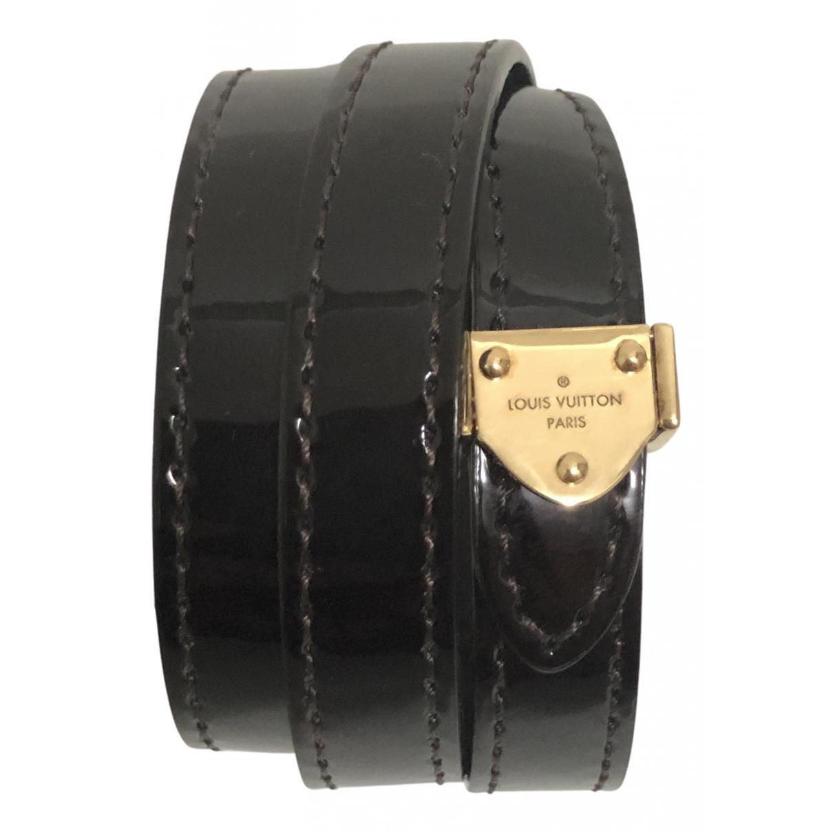 Louis Vuitton \N Armband in  Bordeauxrot Lackleder