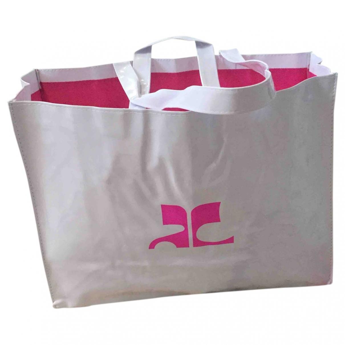 Courreges \N Handtasche in  Weiss Kunststoff