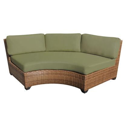 TKC025b-CAS-DB-CILANTRO Laguna Curved Armless Sofa 2 Per Box with 2 Covers: Wheat and